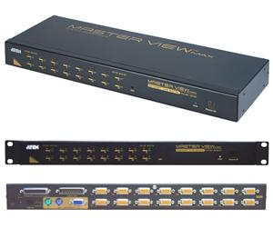 ATEN 16port KVM PS/2+USB, OSD, rack 19""