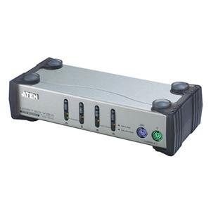 ATEN 4port KVM PS2, 1,2m kabely