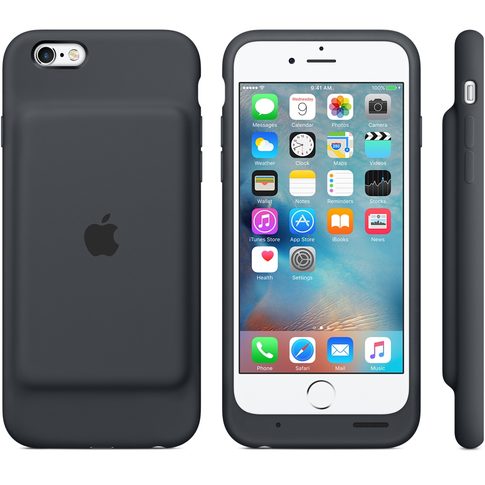iPhone 6s Smart Battery Case Charcoal Gray