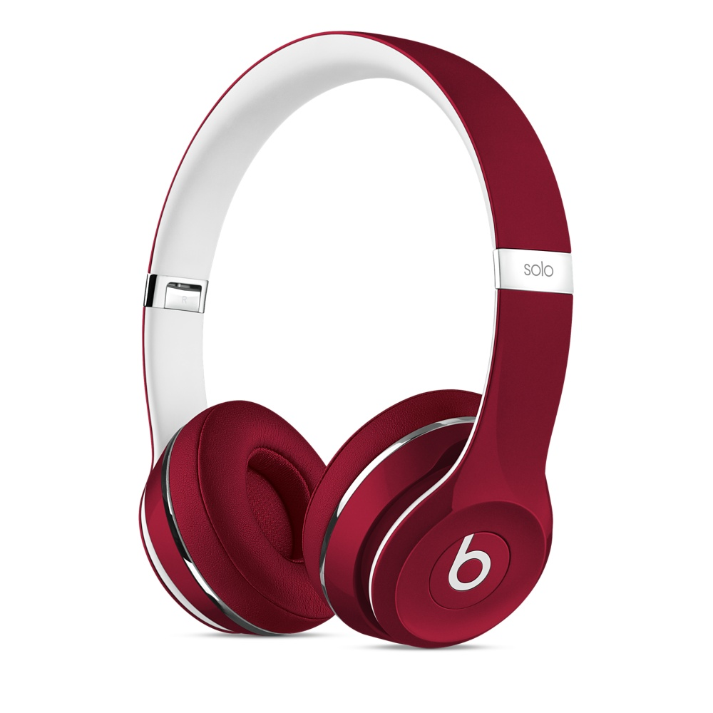 Beats Solo2 On-Ear Headphones Luxe - Red