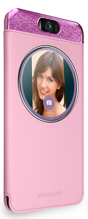 Asus MYVIEW COVER DELUXE pro ZF2 Selfie, růžový