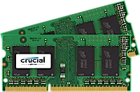 SO-DIMM kit 4GB DDR3L - 1600 MHz Crucial CL11 SR 1.35V/1.5V, 2x2GB