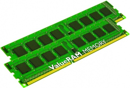 8GB DDR3-1333MHz Kingston CL9 SRx8, 2x4GB
