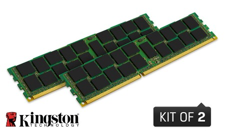 8GB DDR3-1600MHz Kingston ECC Reg CL11 SR x8,2x4GB