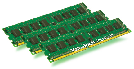24GB DDR3-1333MHz Kingston CL9, kit 3x8GB