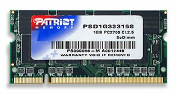 SO-DIMM 1GB DDR 333MHz Patriot