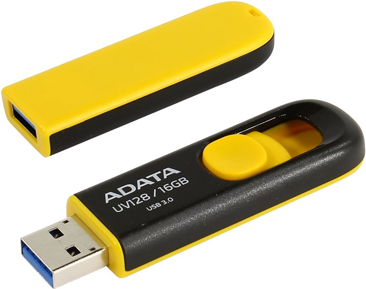 ADATA USB UV128 16GB yellow (USB 3.0)
