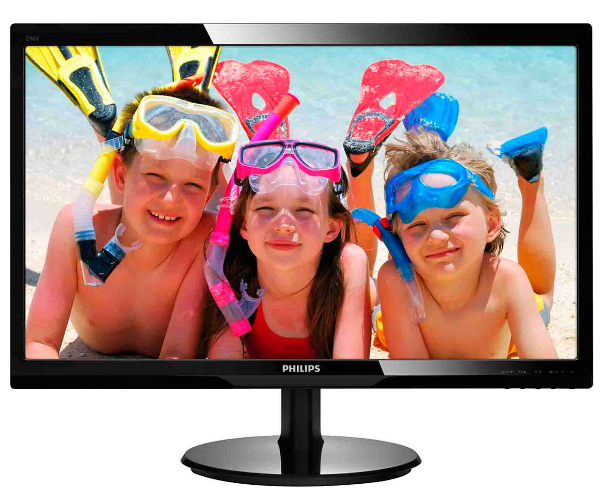 "24"" LED Philips 246V5LSB - Full HD, DVI"