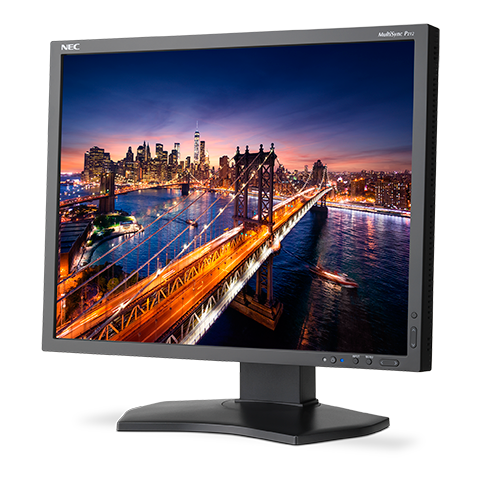 "22"" LED NEC P212 - 1600x1200,DP,USB,piv,24/7,black"
