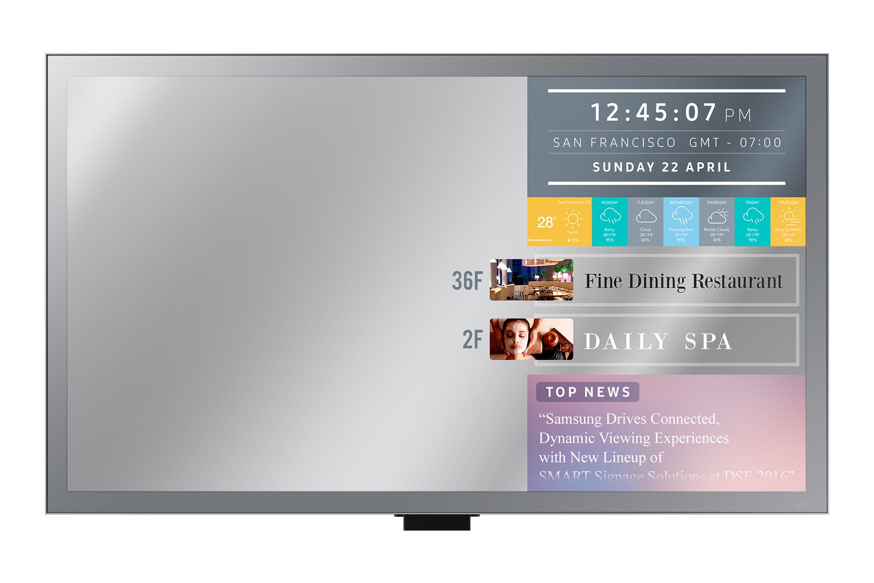 "55"" LED Samsung ML55E-FHD,250cd, zrcadlo"
