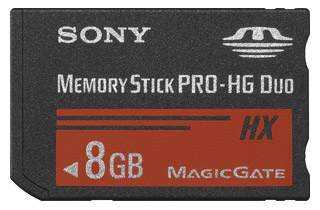 SONY Memory Stick Pro DUO HighGrade MSHX8B, 50MB/s