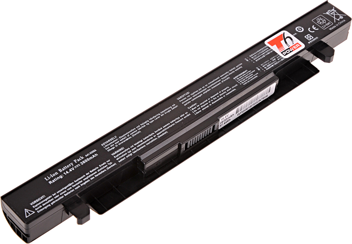 Baterie T6 power Asus X450, X550, X552, A450, A550, F450, F550, F552,