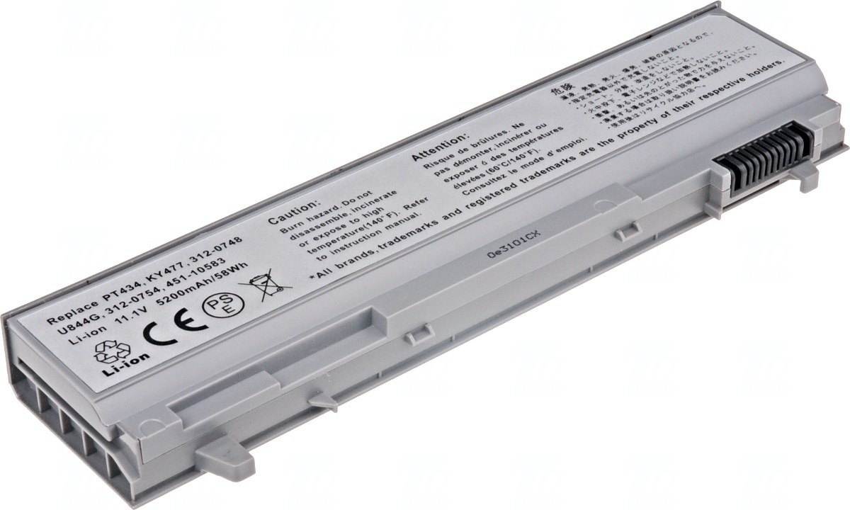 Baterie T6 power Dell Latitude E6400, E6410, E6500, E6510, 6cell, 5200