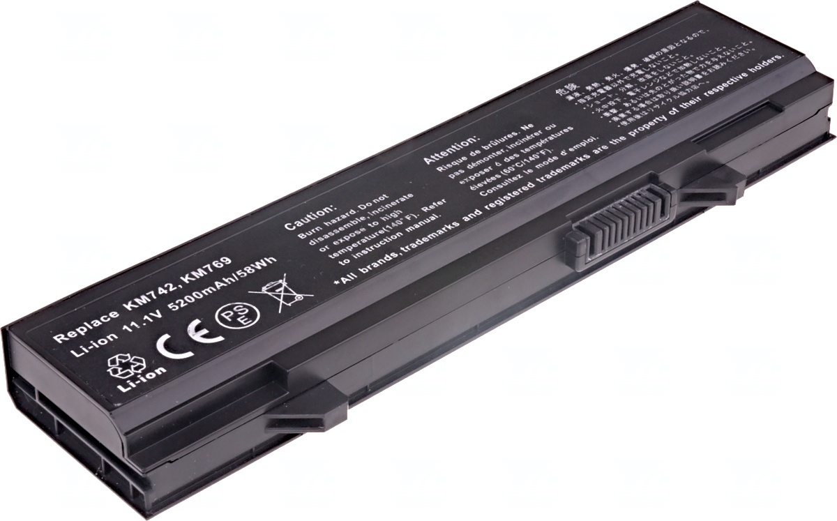 Baterie T6 power Dell Latitude E5400, E5410, E5500, E5510, 6cell, 5200