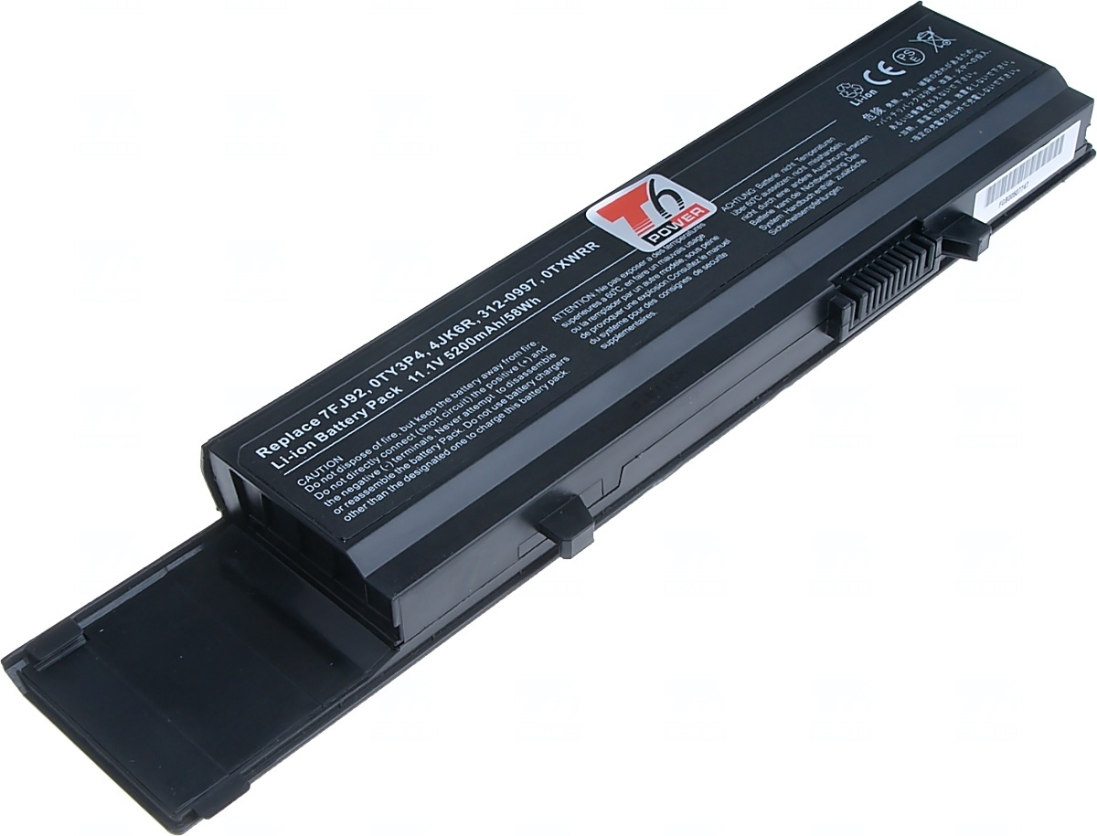 Baterie T6 power Dell Vostro 3400, 3500, 3700 serie, 6cell, 5200mAh