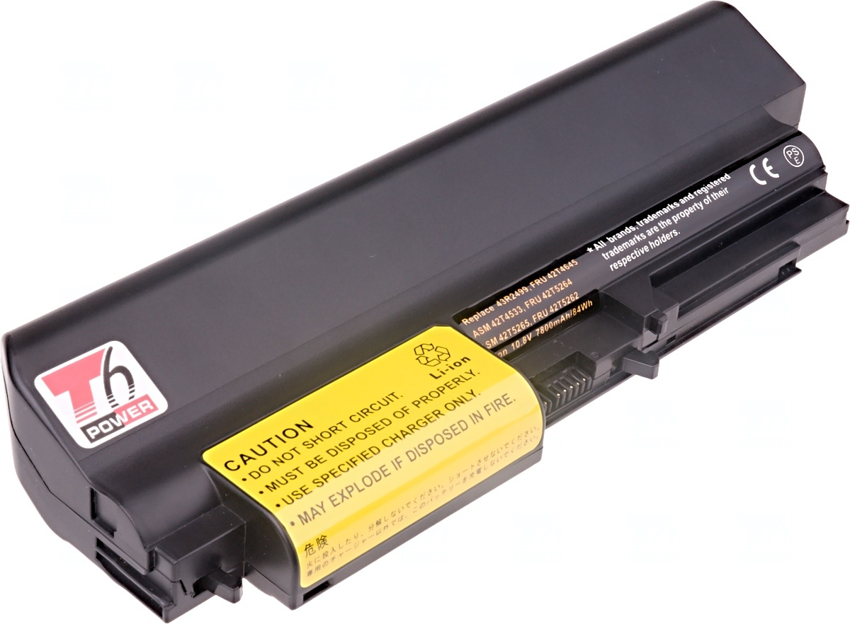 Baterie T6 power IBM ThinkPad T61 14,1 wide, R61 14,1 wide, R400, T400