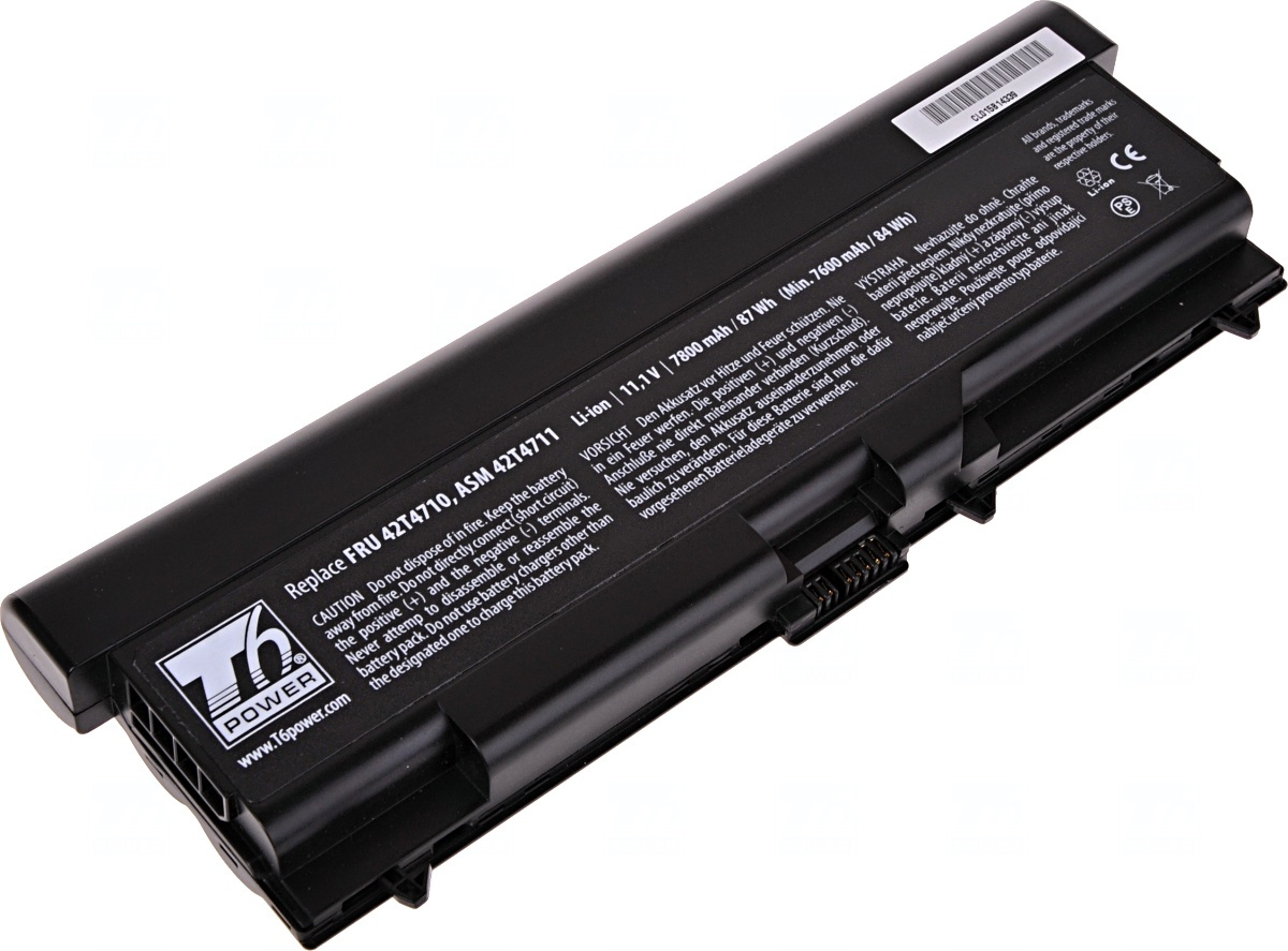 Baterie T6 power Lenovo ThinkPad T410, T420, T510, T520, L410, L420, L