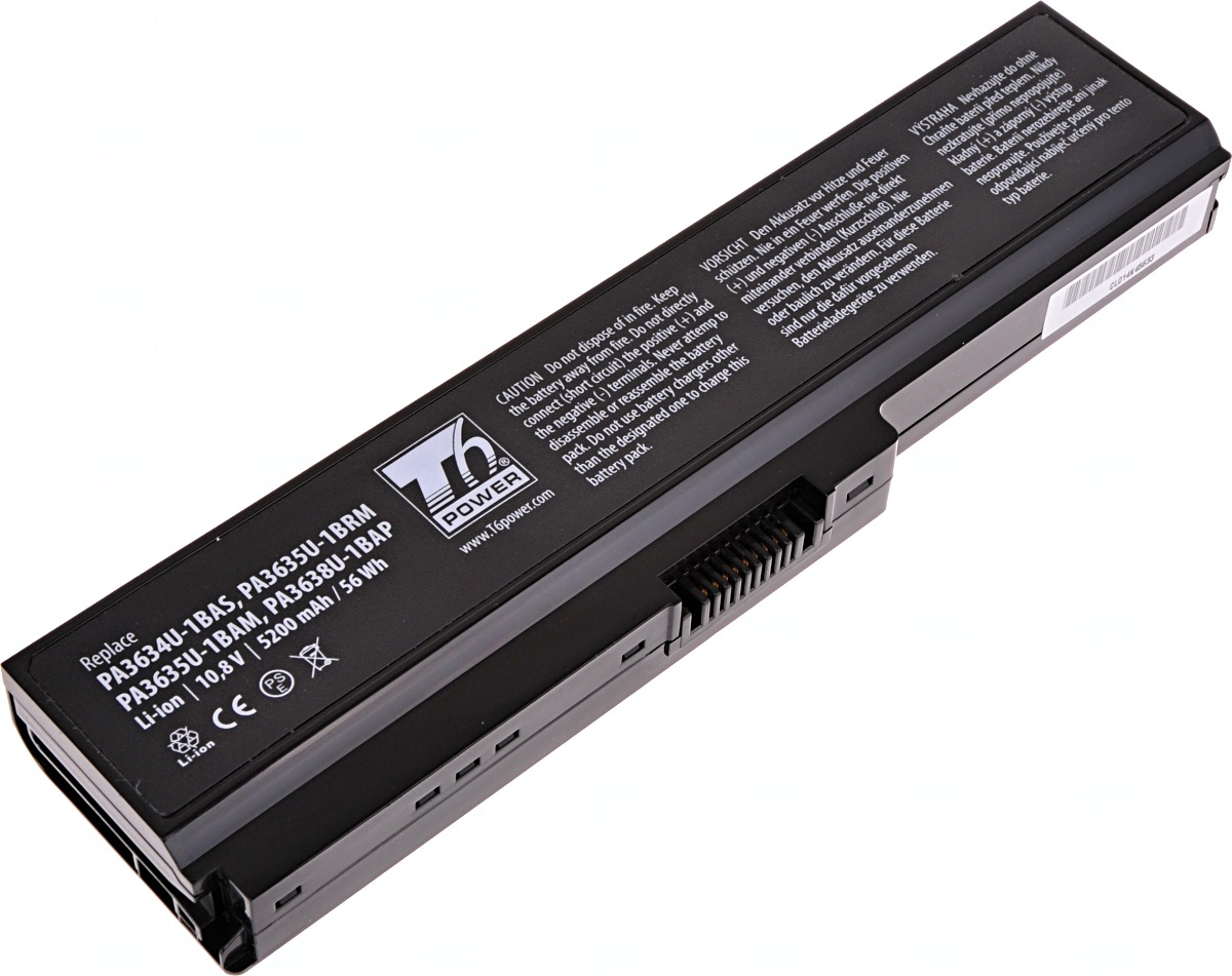 Baterie T6 power Toshiba Satellite A660, C650, L510, L630, L650, L670,
