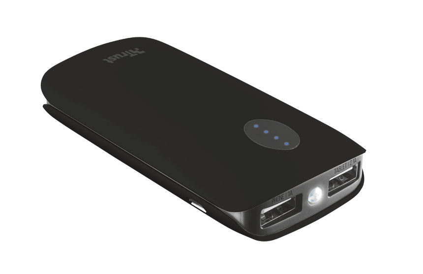 TRUST Leon PowerBank 5200 - black