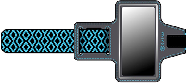 GAIAM Sport Armband Blue Diamond - medium phone