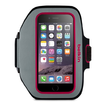 BELKIN Sport-Fit Plus Armband pro Galaxy S6 - Fuschia