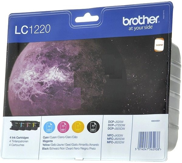 Brother multipack LC-1220 - black, magenta, yellow, cyan, pro J925DW