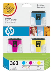 HP 363 - 3 ink pack, CB333EE