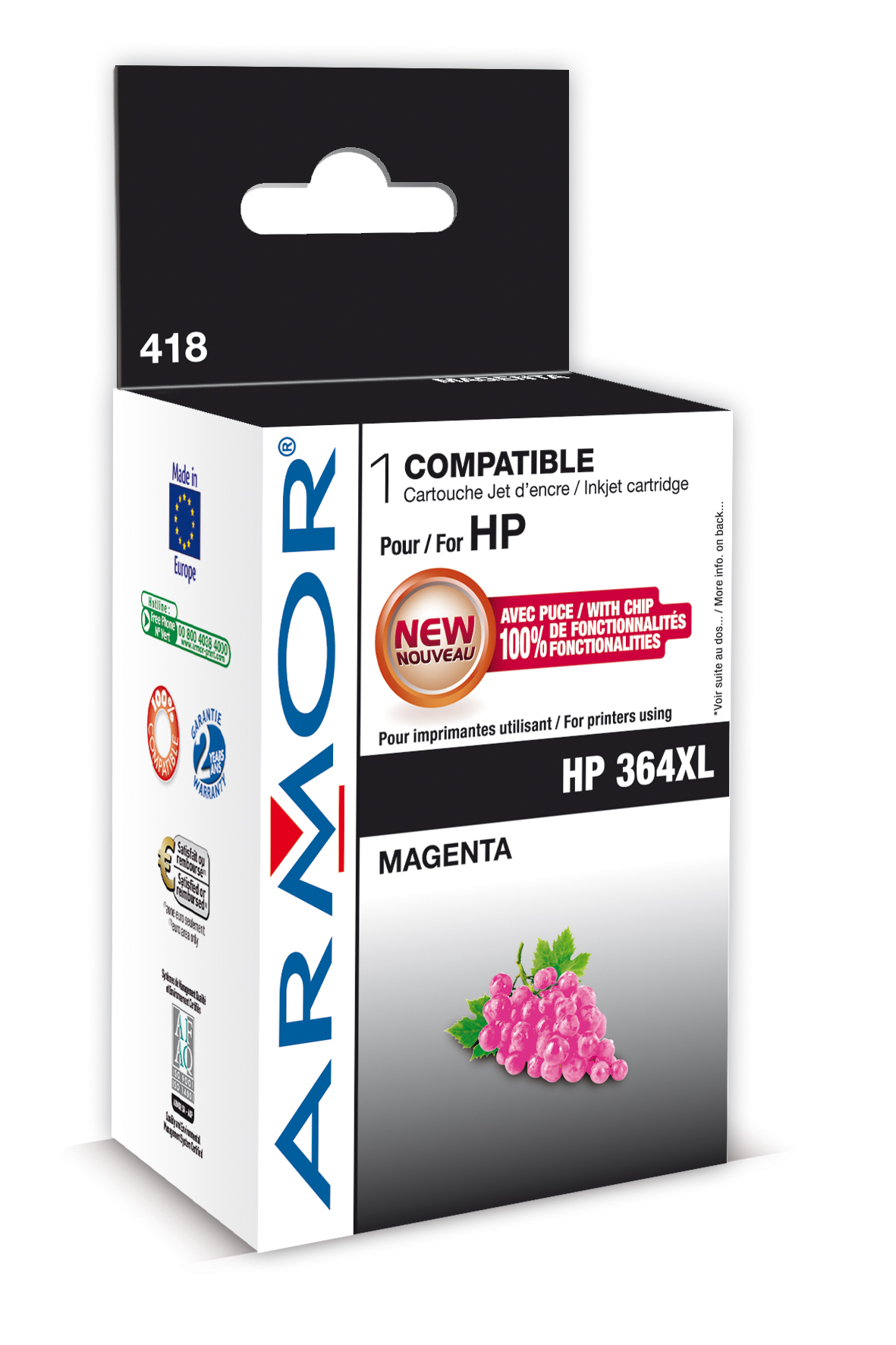 Armor ink-jet pro HP Photosmart B8550,12ml,Magenta