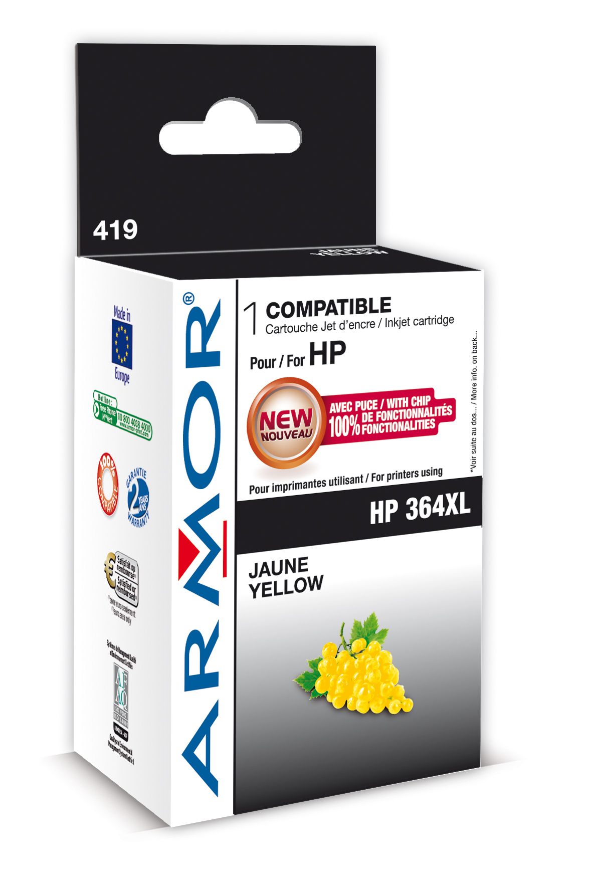 Armor ink-jet pro HP Photosmart B8550,12ml,Yellow