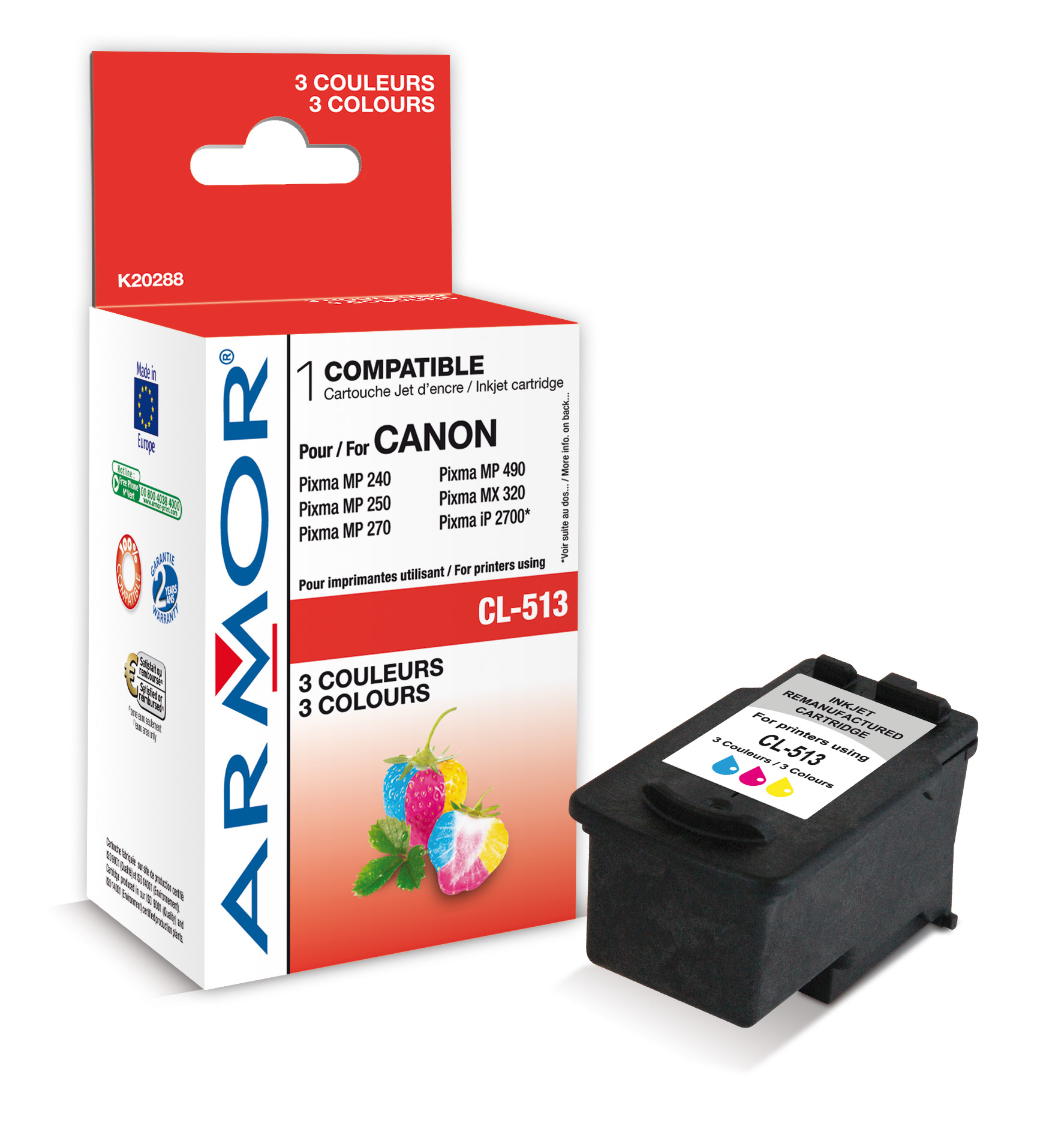 Armor ink-jet pro Canon MP250,15ml(CL513),color