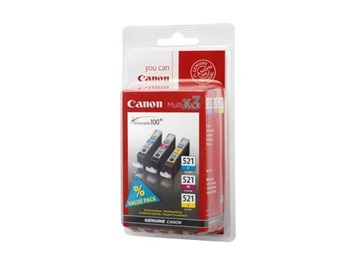 Canon pack CLI-521 C/M/Y/B + 50x PP-201