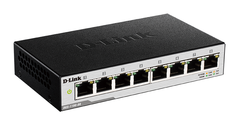 D-Link DGS-1100-08 Easy Smart Switch 10/100/1000