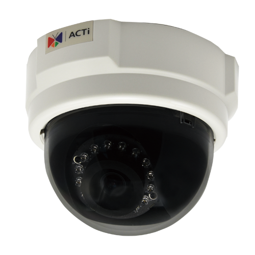 ACTi E54,F.Dome,5M,ID,f3.6mm,PoE,WDR,IR