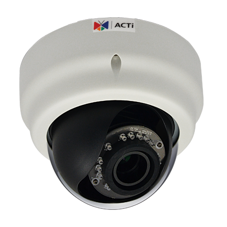 ACTi E64A,VF.Dome,1M,ID,f2.8-12mm,PoE,WDR,IR