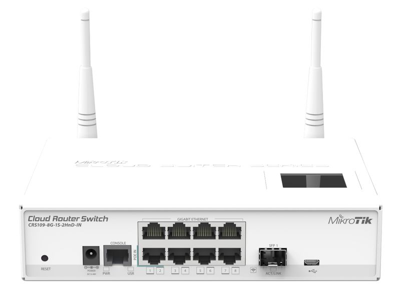 MikroTik CRS109-8G-1S-2HnD-IN