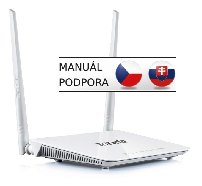 Tenda D301 WiFi-N 300Mb Router, 4xLAN, USB, ADSL2+