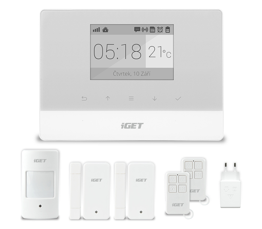 iGET SECURITY M3 - Domovní GSM Alarm, set