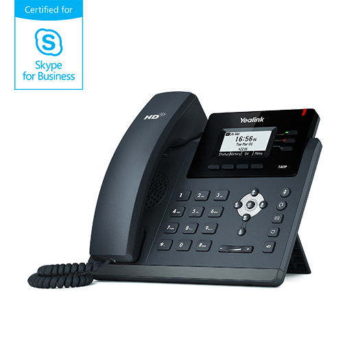 "Yealink T40P Skype for Business, PoE, 2,3"" 132x64 LCD, 3 prog.tl."
