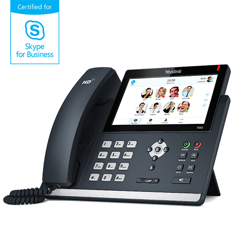 "Yealink T48G Skype for Business, PoE, 7"" bar. dotykový LCD, 29 prog.tl"