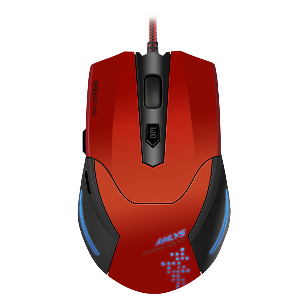 AKLYS Gaming Mouse, red-black