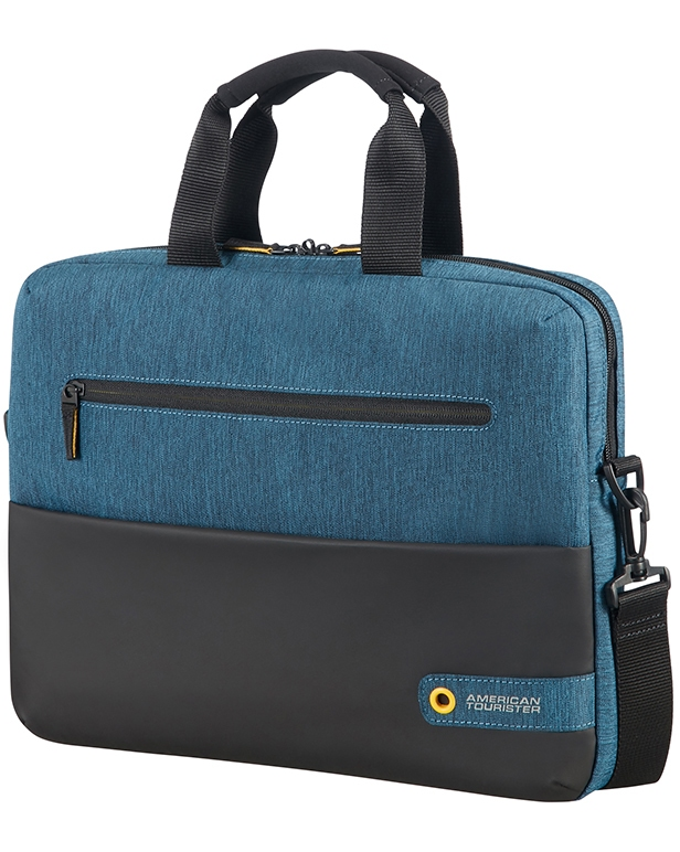 "American Tourister CITY DRIFT LAPTOP BAG 13.3""-14.1"" BLACK/BLUE"
