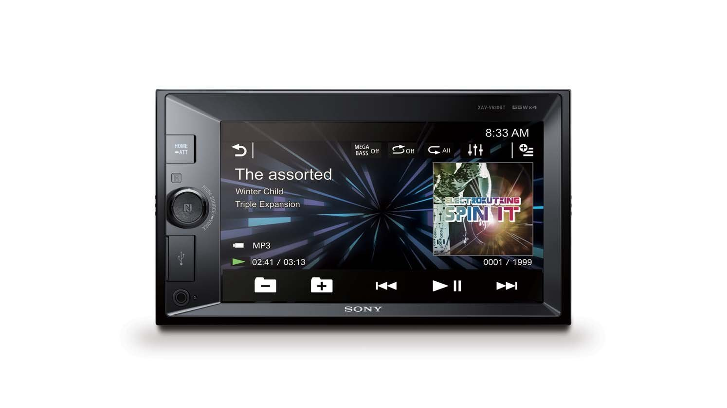 Sony autorádio XAV-V630BT multimediální, dot. display, XVid/MP3, USB/A