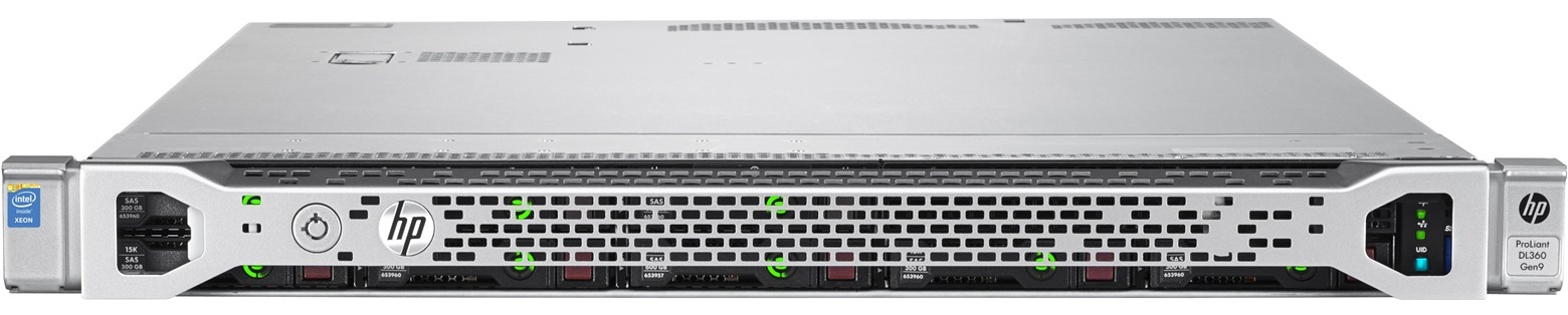 HP DL360 Gen9 2xE5-2670v3, 64GB, 8 SFF, P440