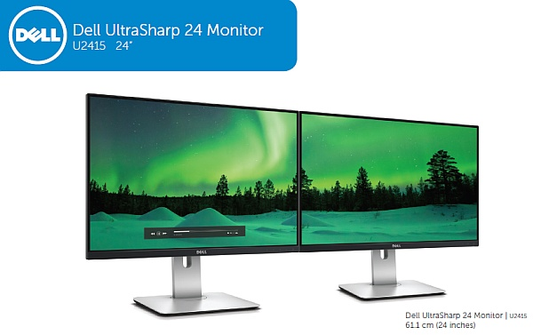 "24""LCD Dell U2415 UltraSharp IPS/16:10/HDMI/DP/USB"