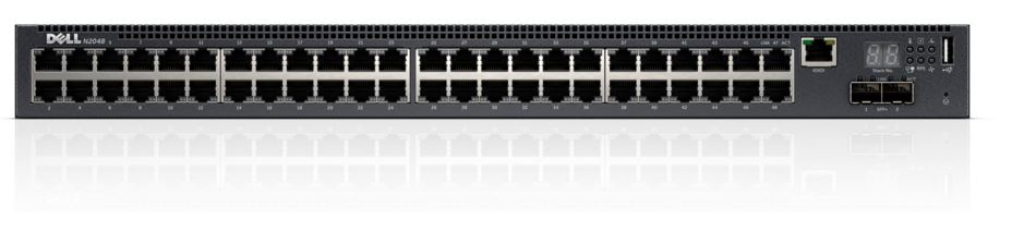 DELL Networking N2048 switch/ 48 x 10/100/1000 Baset-T+ 2 x SFP+ 10 Gb