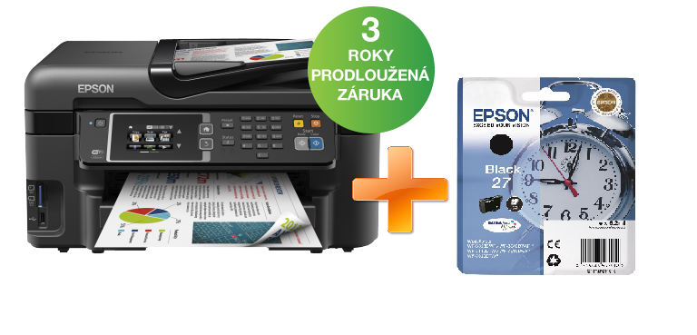 Epson WorkForce WF-3620DWF A4, 4,800 x 2,400, wifi + L inkoust