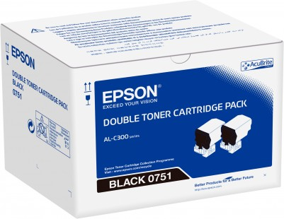 Double pack Toner Black - Epson WorkForce AL-C300
