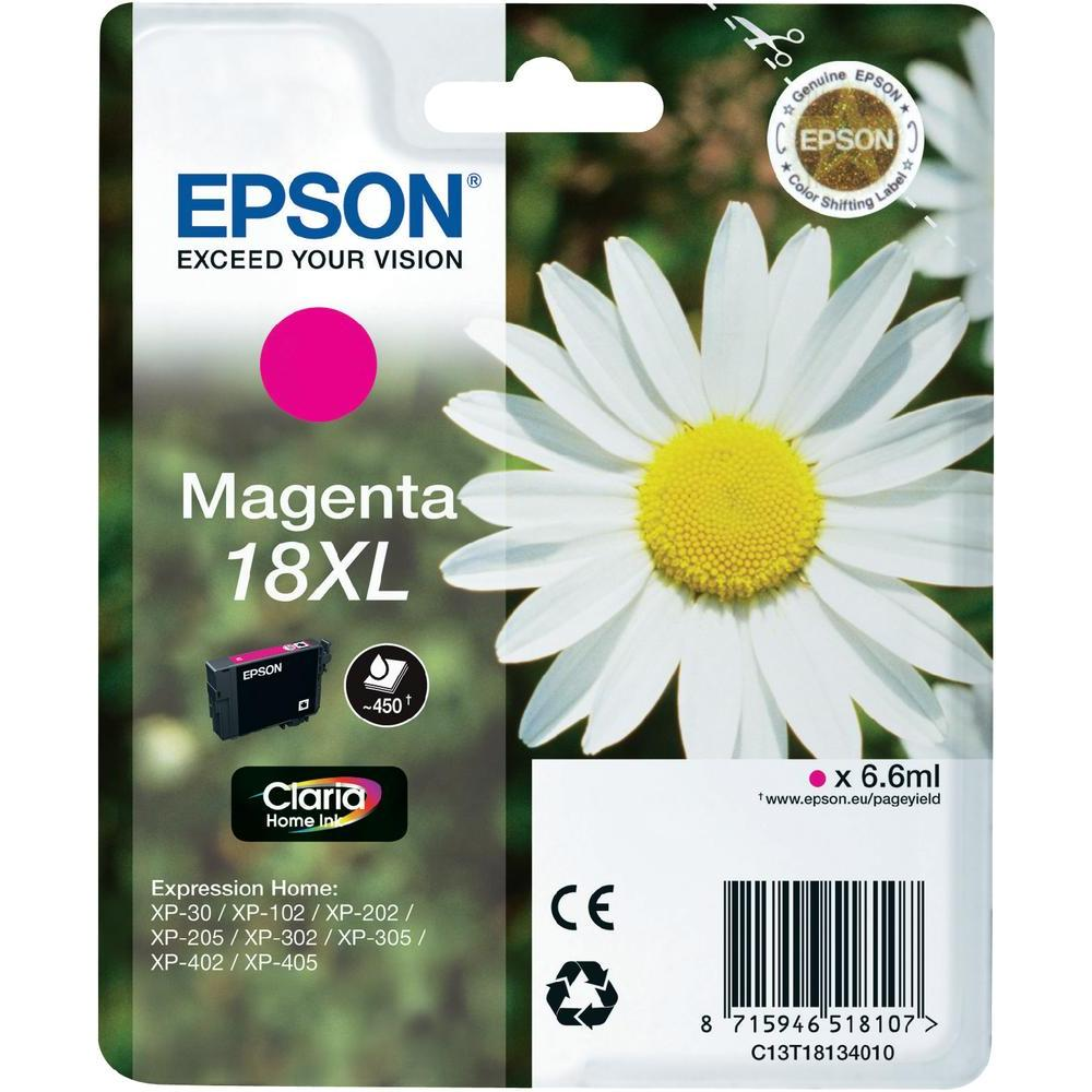 Epson T1813 Singlepack 18XL Claria Home Ink Magent