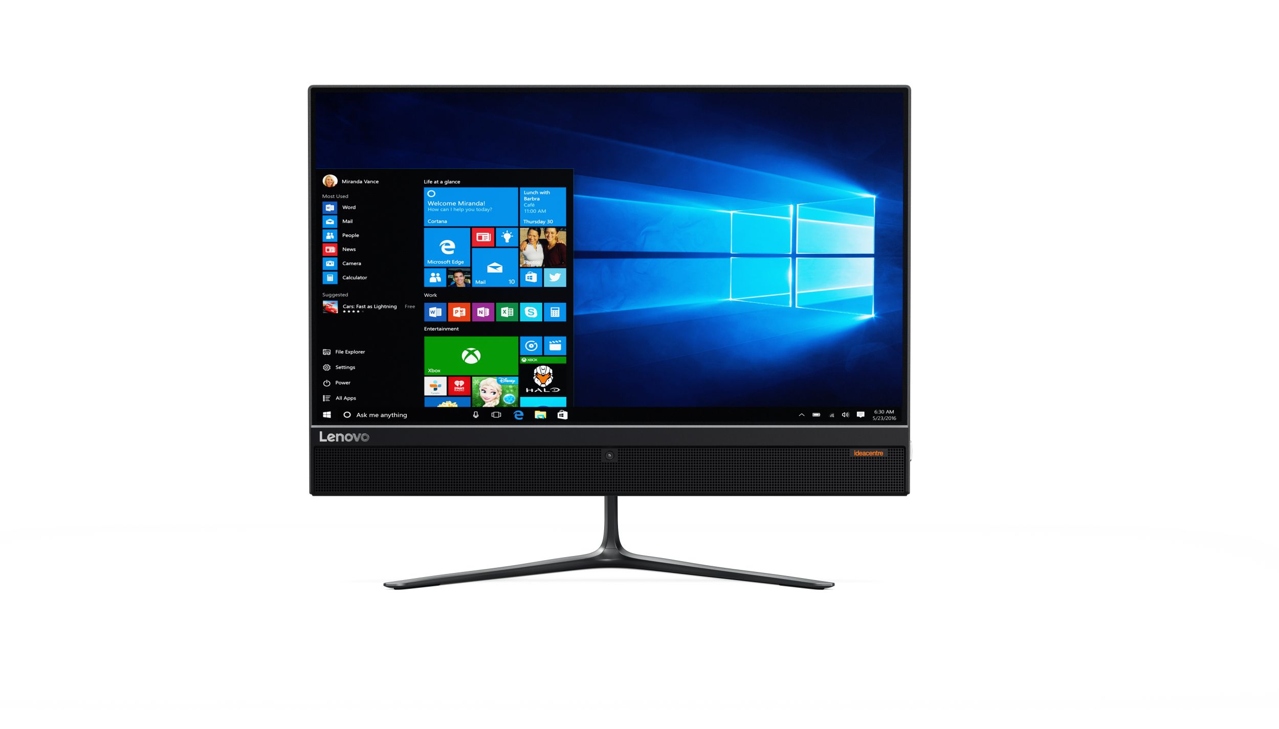 "Lenovo AIO 510 23""/G4400T/1TB/4G/INT/DVD/Win 10 černý 3YR On Site"
