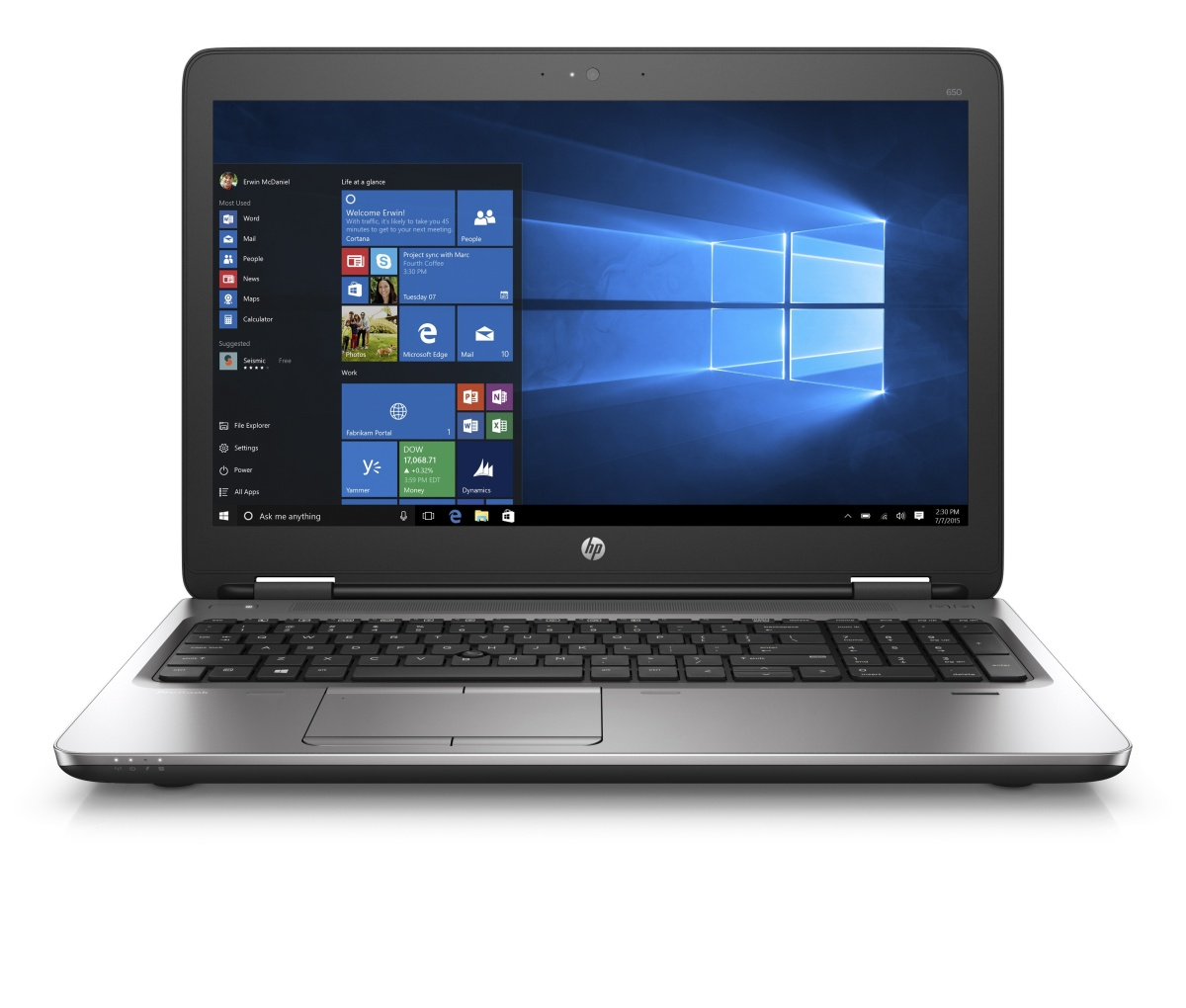 "HP ProBook 650 G2 15.6"" HD/i5-6200U/4GB/500GB/DVD/VGA/DP/SP/RJ45/WIFI/"